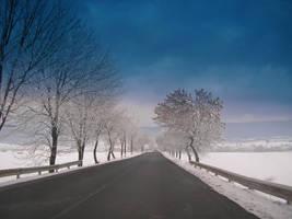 winter roads by oblious