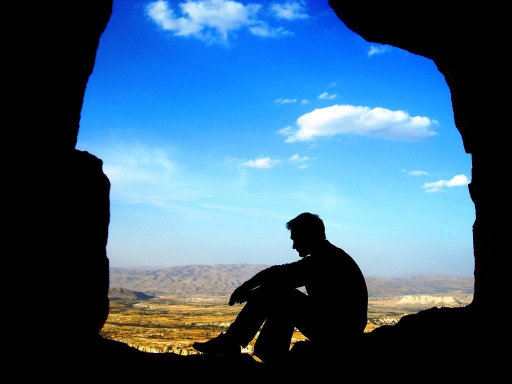 THE MODERN CAVEMAN IN CAPADOCI by OnuRoca