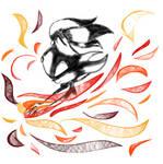 Blaze with fire
