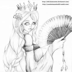 Ice Queen in Geisha Style by Drk-Haimazulee