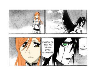 Bleach Orihime and Ulquiorra by AnimeFairy101