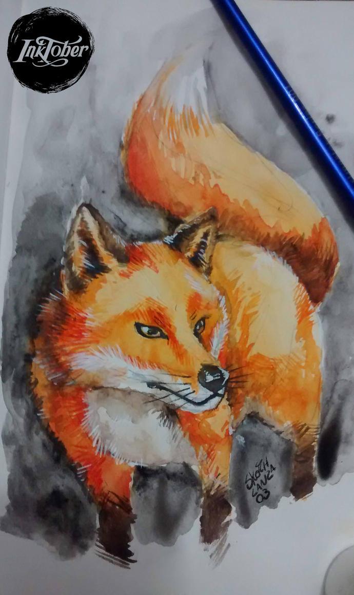 Fox - Watercolor by sketchlanza