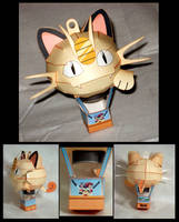 Meowth Balloon Papercraft by CalypsoTea