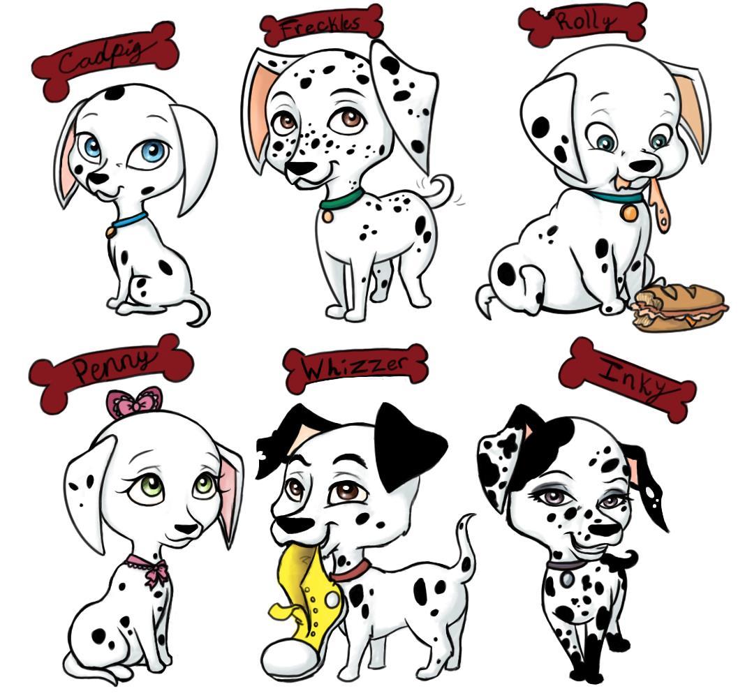 101 Dalmatian Characters Names Images