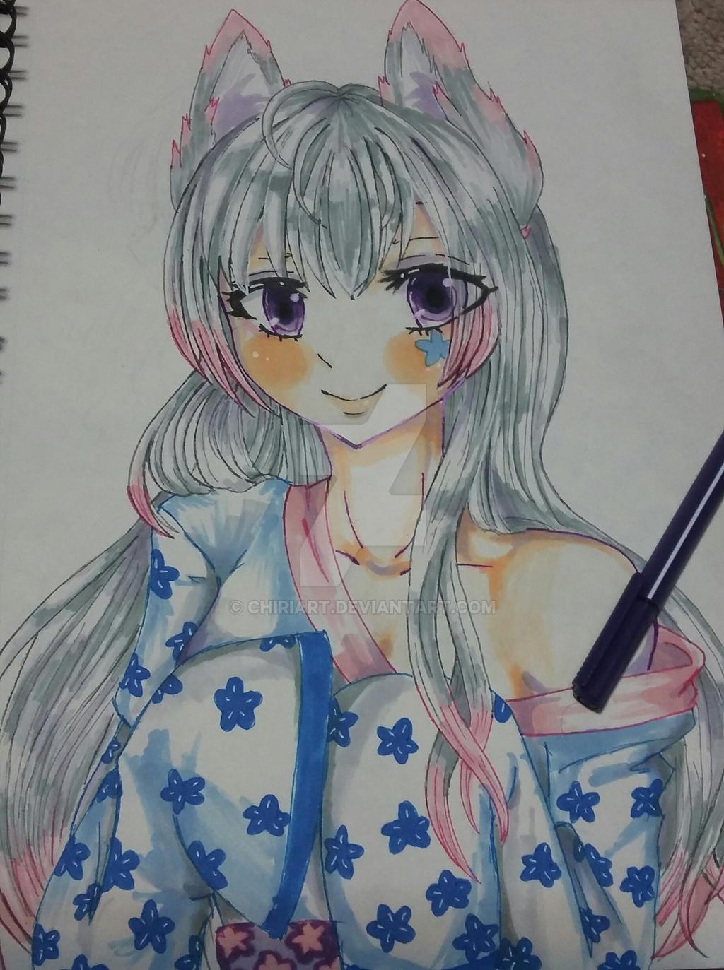 Kaerys Kitsune (human form) by chiriart on DeviantArt