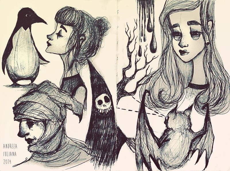 april sketches by AndreeaIuliana