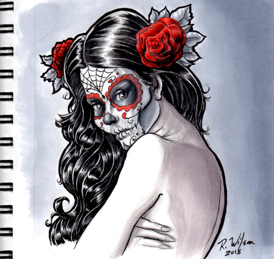 Sugar Skull Girl by rkw0021