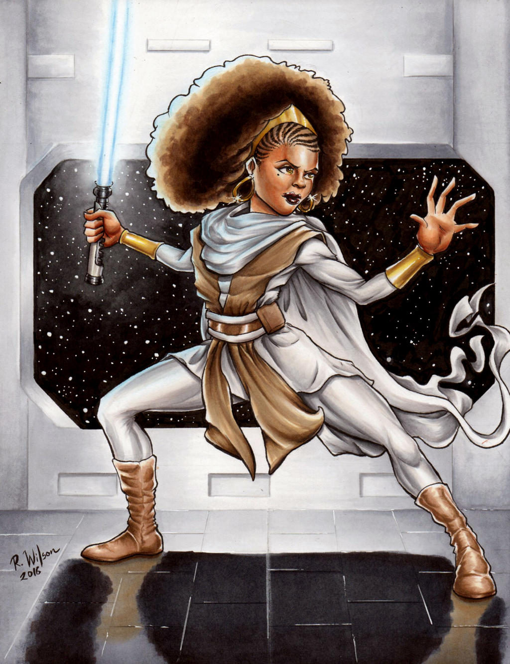 Afro Jedi by rkw0021