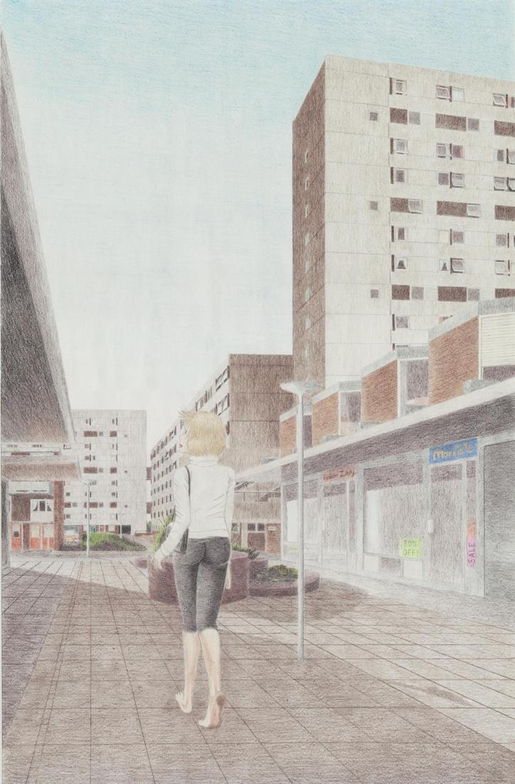 Hebburn New Town- Pretty Shopper by VISIONOFTHEWORLD