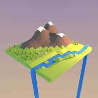 Blender: Island Town (Work in Progress) by Gindew