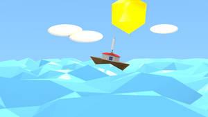 Blender: Little Boat by Gindew