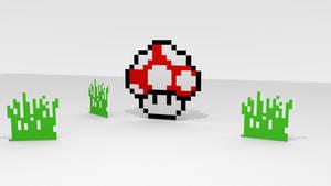Blender: 3D Pixel Art by Gindew