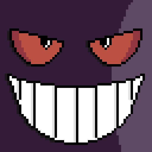 Pixel Gengar Face By Gindew On DeviantArt