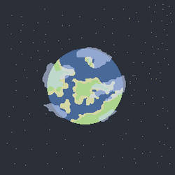 Pixel Earth by Gindew
