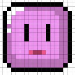 Perler Bead Design: SMW Pinky Flip Block by Gindew