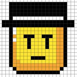 Perler Bead Design: SMW Gentleman Flip Block by Gindew