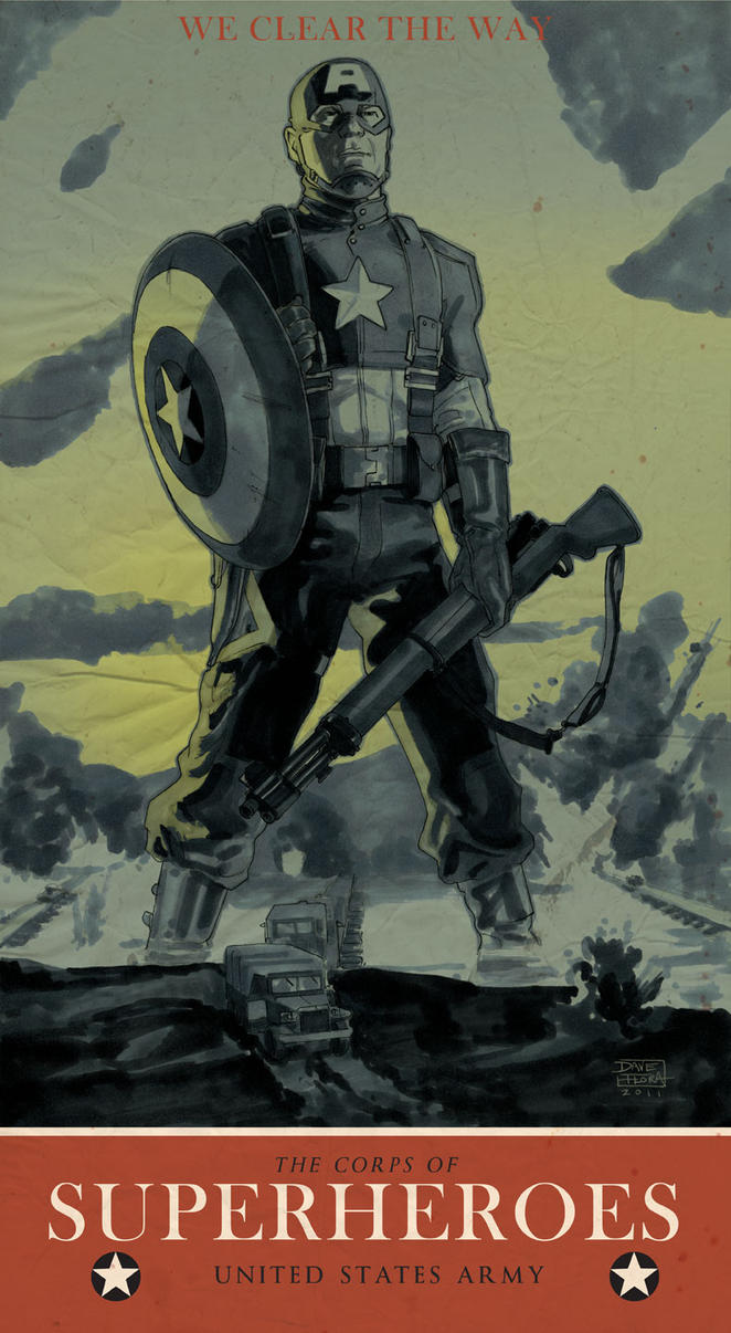 Captain America WWII poster by Roguehill