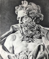 Neptune in graphite by sinarty77