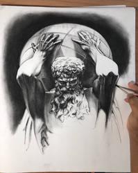 Atlas in charcoal by sinarty77