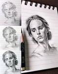 Mini pencil sketch - Emma Watson