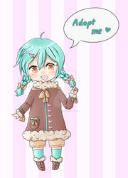 Mint Chocolate Adoptable [CLOSED] 400 points by Rina-tenshi