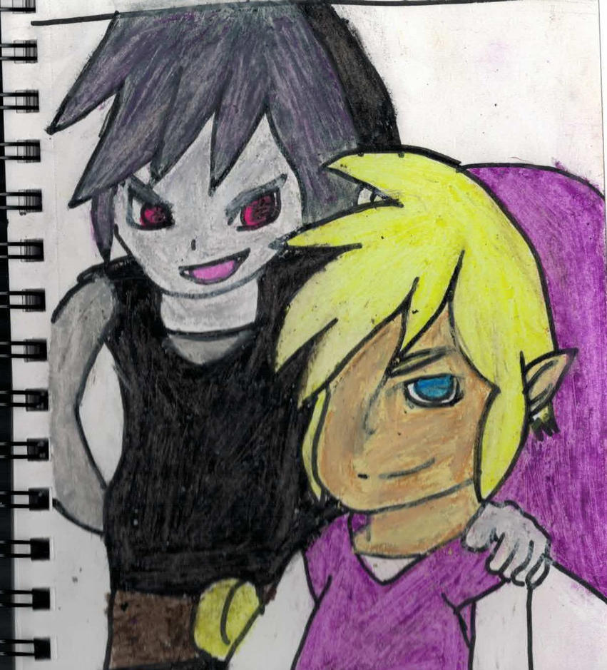 Shadow link and Vio from zelda four swords by Vivan21Games