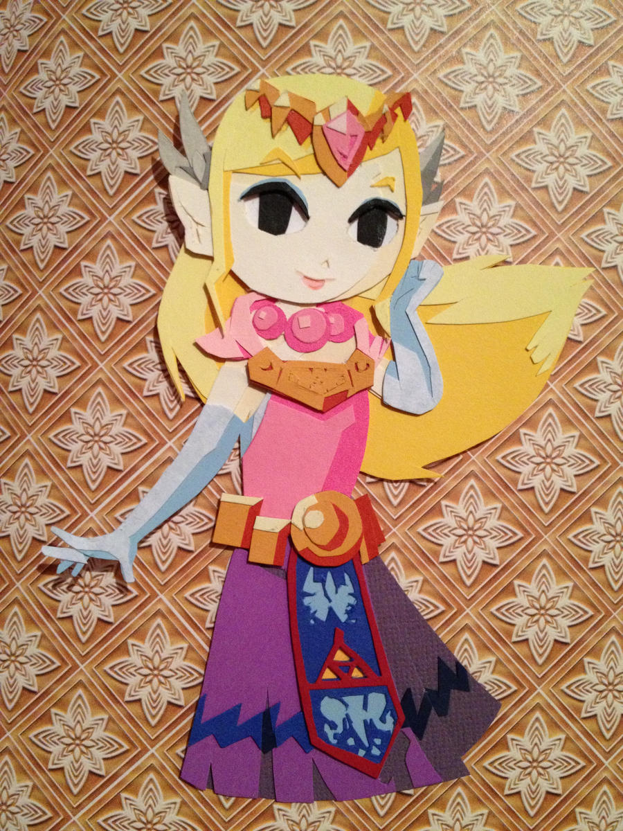 Paper Zelda by KatelynJayne