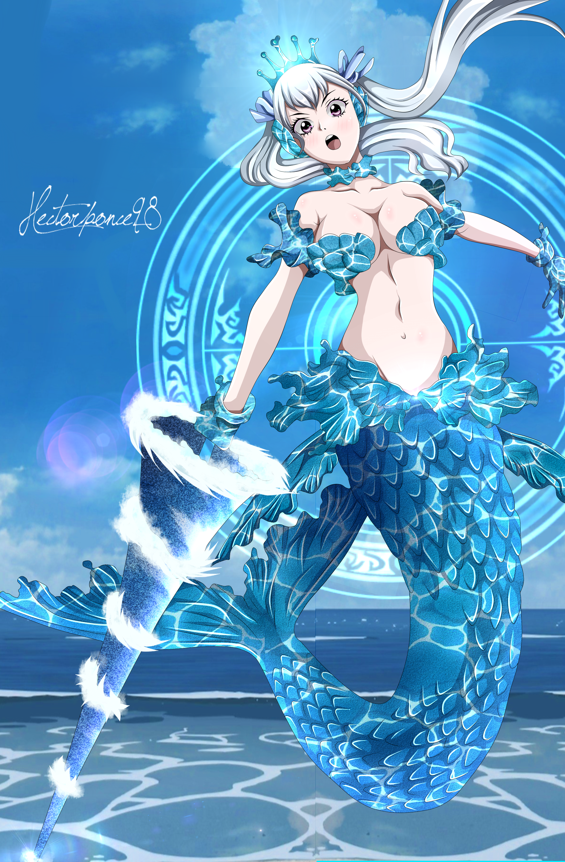 Black Clover Noelle Valkyrie Form Mermaid By Hectorponce98 On Deviantart