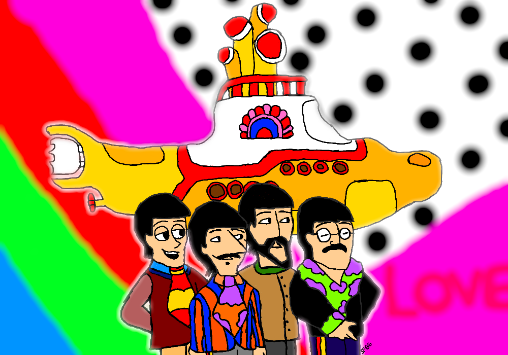 a cartoon adventure yellow submarine Yellow submarine is a 1968 animated feature film based on the music of the beatles it is also the title for the soundtrack album to the feature film, released as part of the beatles' music.