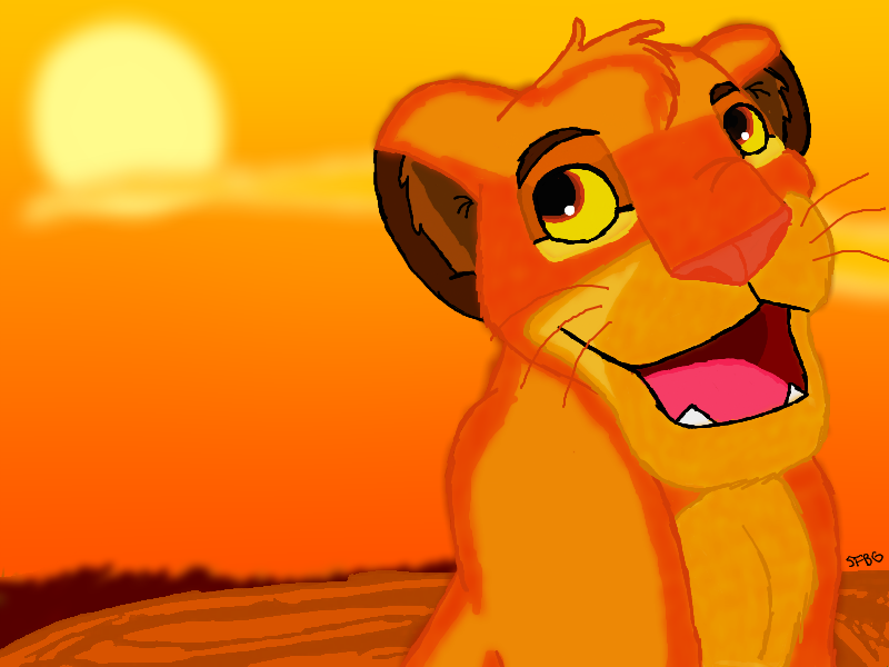 Simba the Lion King by SciFiBeatlesGleek