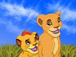 Kion and Kiara by SciFiBeatlesGleek