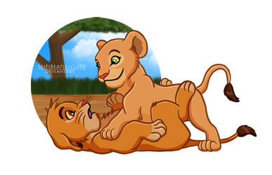 Pinned Ya: Simba/Nala by SciFiBeatlesGleek