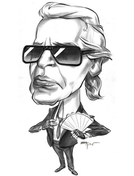 A Caricature of Karl Lagerfeld by alex-ek