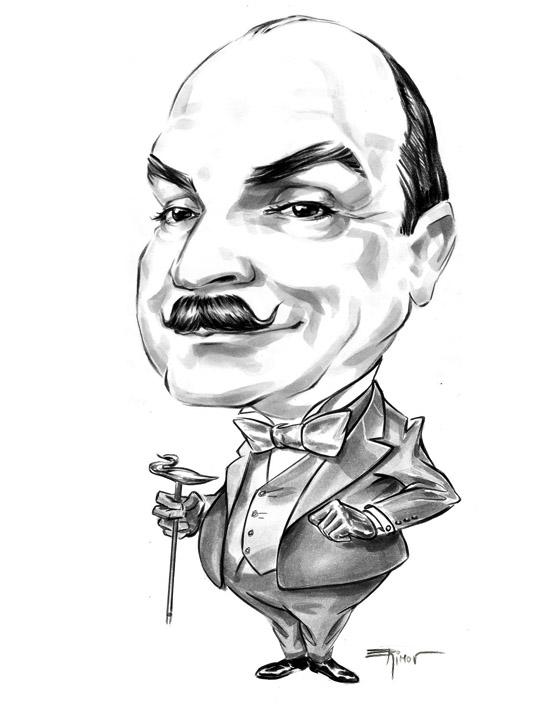 Caricature of David Suchet by alex-ek