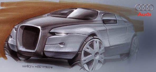 Sketch of Audi SUV by alex-ek