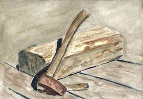 Old axe by tulvit