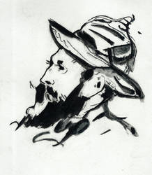 Head of a Man by tulvit