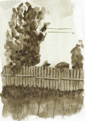 Fence, grisaille by tulvit