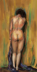 Master study, Standing Nude by tulvit