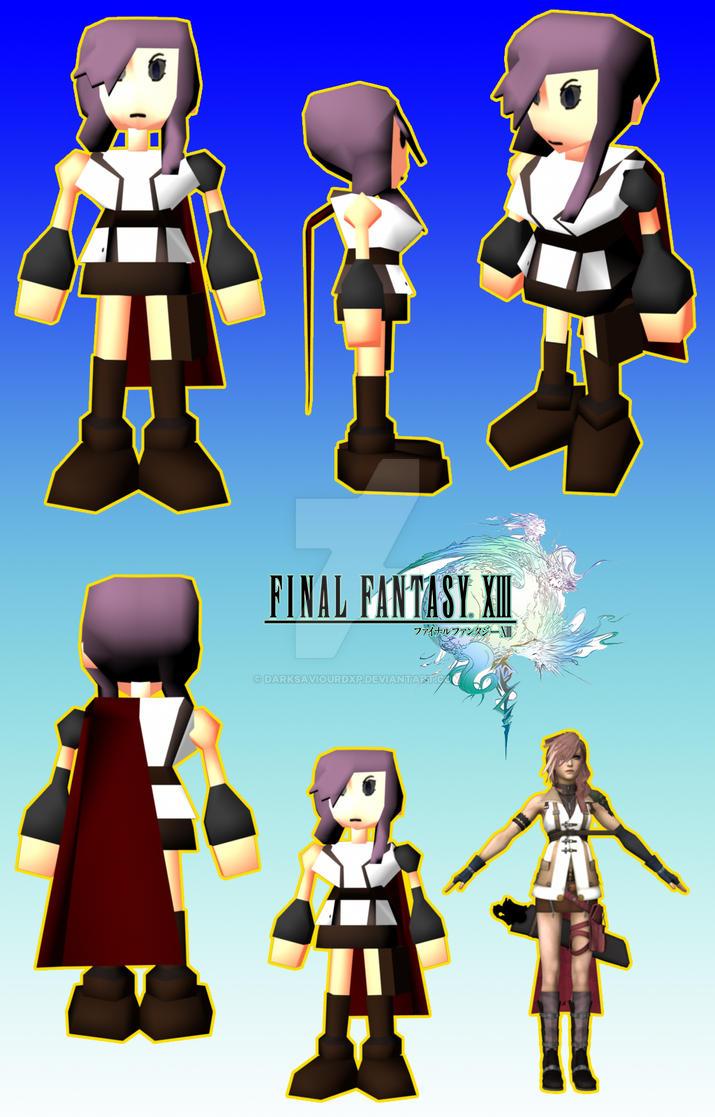 Lightning ff7 Style  V1 by darksaviourDXP