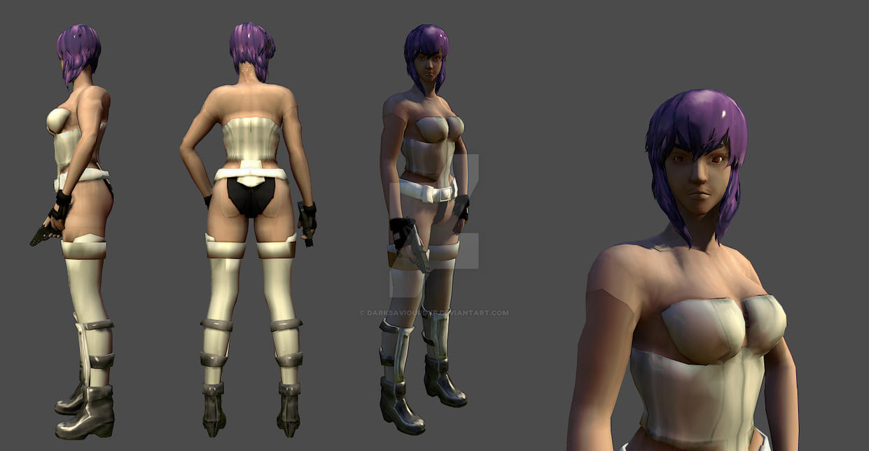 Motoko Kusanagi by darksaviourDXP