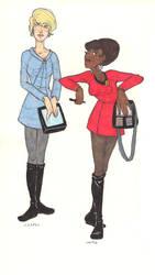 Nurse Chapel and Lt. Uhura by cinnamon-lady24