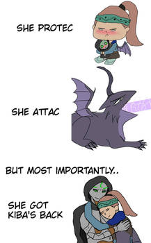 She protec..