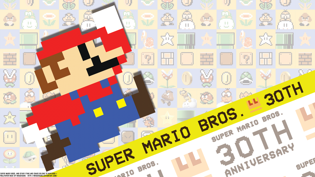 Super mario bros th anniversary modern colors by