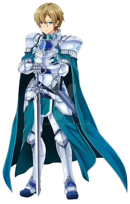 Azure chevalier eugeo by zander v on deviantart - Sword art online alicization wallpaper ...