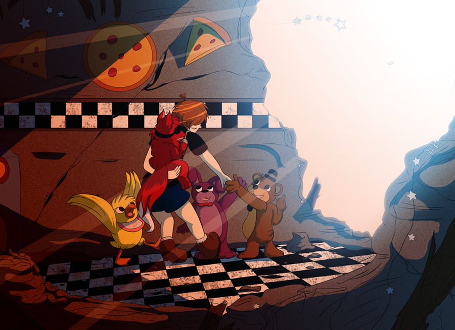 Going With My Friends - FNAF by CoolFireBird