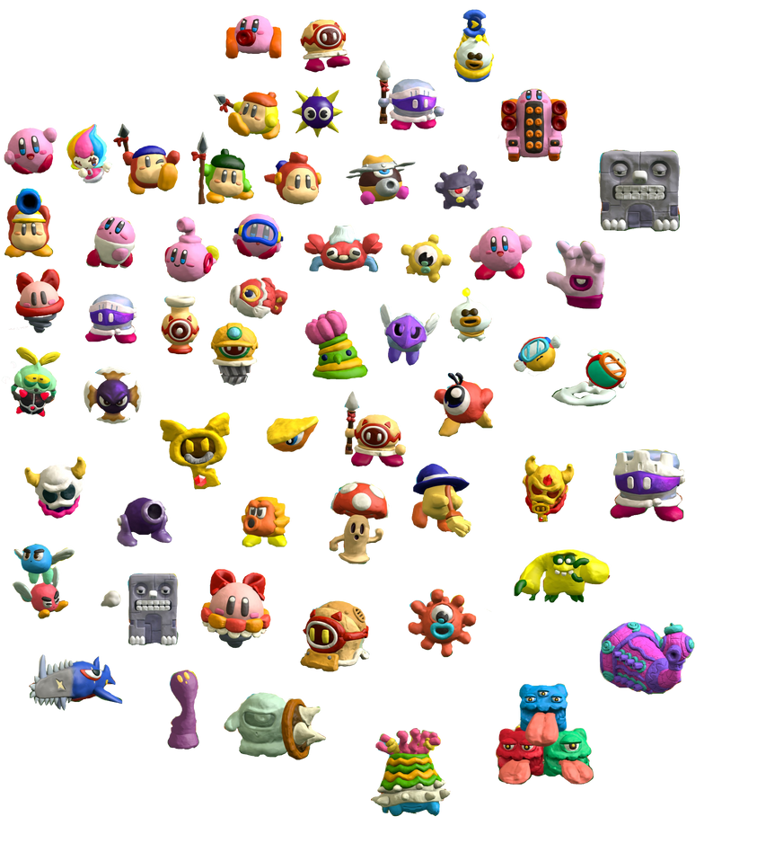 Kirby and the Rainbow Curse Figurines by Lightning-Cutter