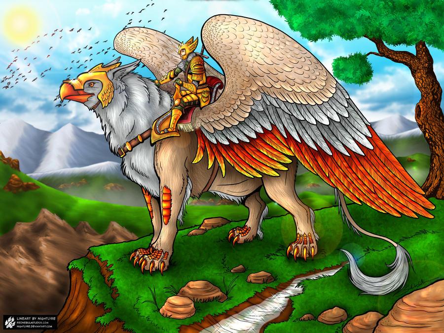 Griffon Rider colored by Mallagueta-Pepper