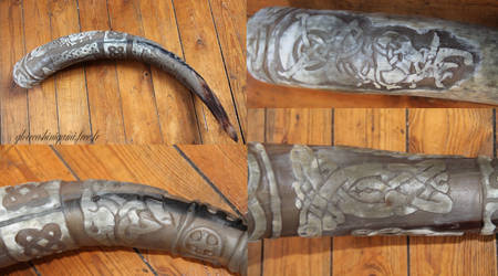 Celtic drinking horn