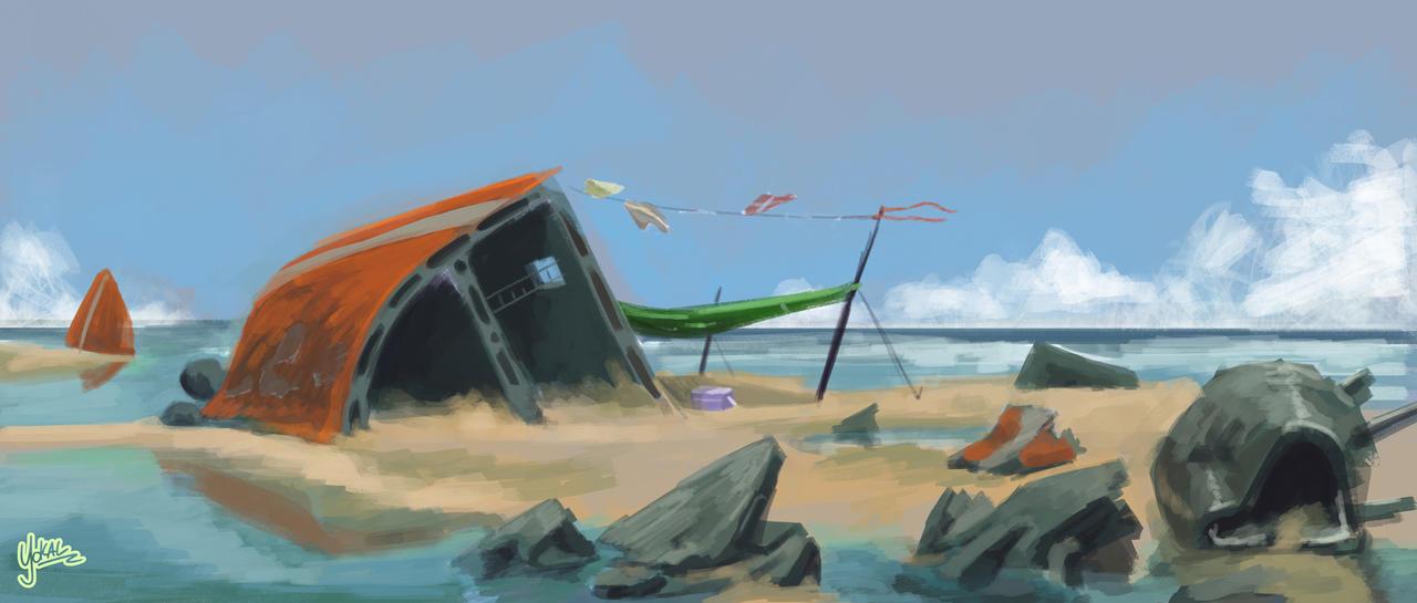 Beachside Wreck by Yokal5